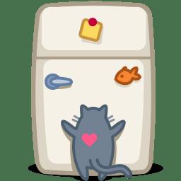 Cat fridge icon