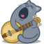 Cat banjo icon