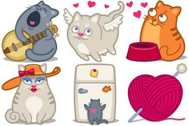 Saint Whiskers Valentine Icons