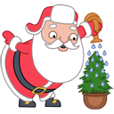 Santa-christmas-tree icon