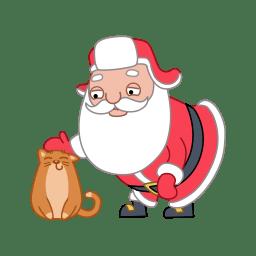 Santa cat icon