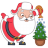 Santa christmas tree icon