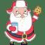 Santa cookies icon