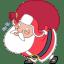 Santa heavy bag icon