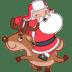 Santa-reindeer icon