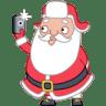 Santa-selfie icon