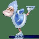 Santa skate icon
