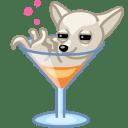 Dog cocktail alkohol icon