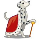 Dog-dalmatian-king icon