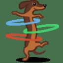 Dog hulahoop icon