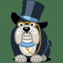 Dog rich icon