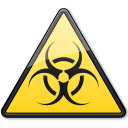 Documents BiologicalHazard Symbol Triangle icon