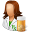 People-Pharmacist-Female icon