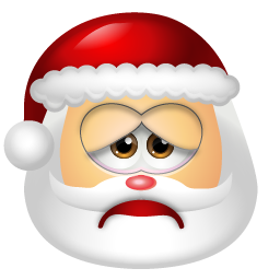Santa Claus Sad icon