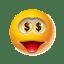 Emoticon Money icon