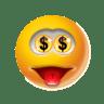 Emoticon-Money icon