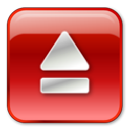 Eject Normal Red icon