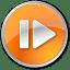Step Forward Normal Orange icon