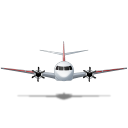 Airplane-Front-Red icon