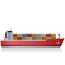 Container Ship Right Red icon