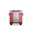 Fire-Truck-Back-Red icon