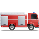 Fire-Truck-Right-Red icon