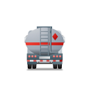 FuelTank Truck Back Grey icon