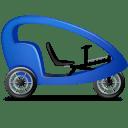 Pedicab-Right-Blue icon
