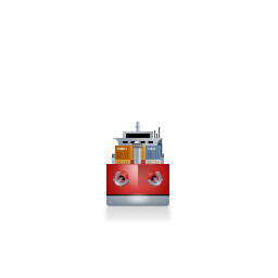Container Ship Front Red icon