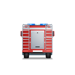 Fire Truck Back Red icon