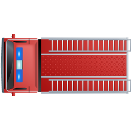Fire Truck Top Red icon