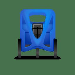 Pedicab Front Blue icon