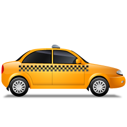 Taxi Right Yellow icon