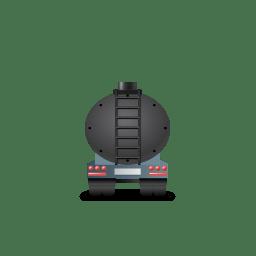 WasteTankerTrailer Back Black icon