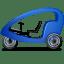 Pedicab Left Blue icon