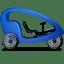 Pedicab Right Blue icon