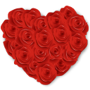 Flowers Heart Roses icon