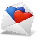 MailEnvelope Hearts BlueRed icon