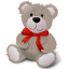 TeddyBear-RedRibbon icon