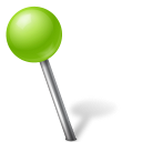 Map Marker Ball Left Chartreuse icon