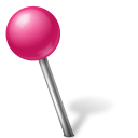 Map Marker Ball Left Pink icon