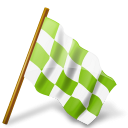 Map Marker Chequered Flag Right Chartreuse icon