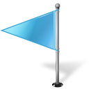 Map Marker Flag 1 Left Azure icon