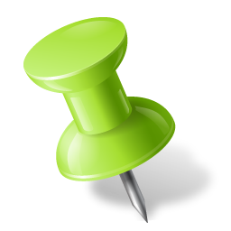 Map Marker Push Pin 1 Left Chartreuse icon