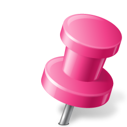 Map Marker Push Pin 2 Right Pink icon
