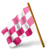 Map-Marker-Chequered-Flag-Left-Pink icon