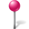 Map-Marker-Ball-Pink icon