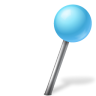 Map-Marker-Ball-Right-Azure icon
