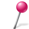 Map-Marker-Ball-Right-Pink icon