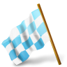 Map-Marker-Chequered-Flag-Left-Azure icon